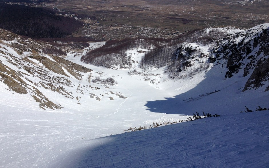Korito/karlica - pogled sa vrha prve žičare