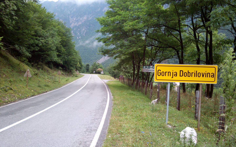 Ulazak u Gornju Dobrilovinu