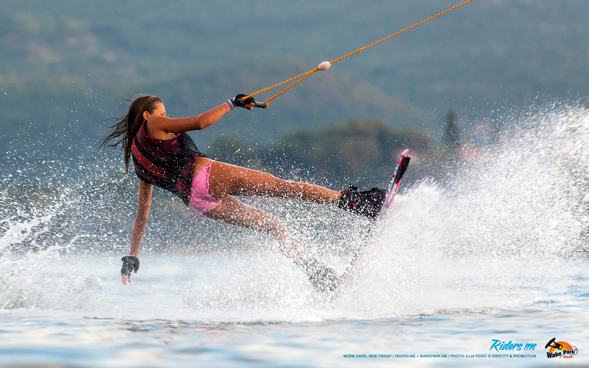 Lana Roganović - work hard, ride friday - wakepark.me © riders.me