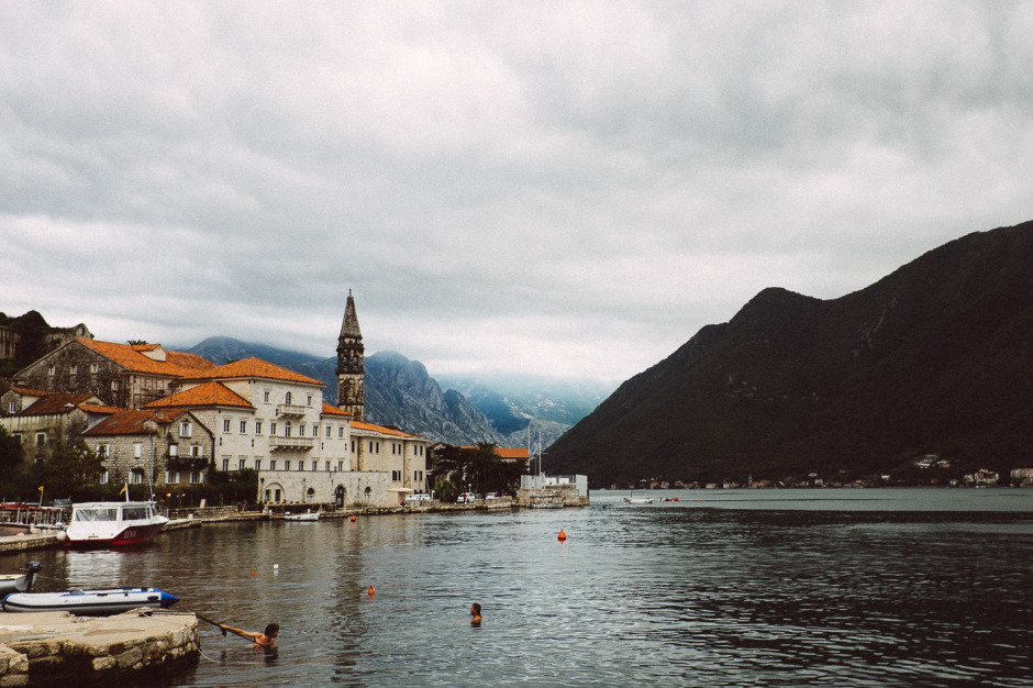 Perast harbor