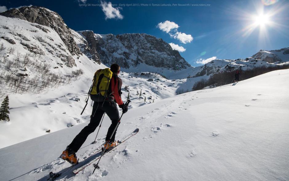 Ascending the Velika kalica valley