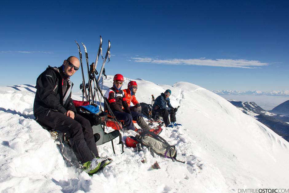 Ekipa na vrhu. Foto: Bojan Marić