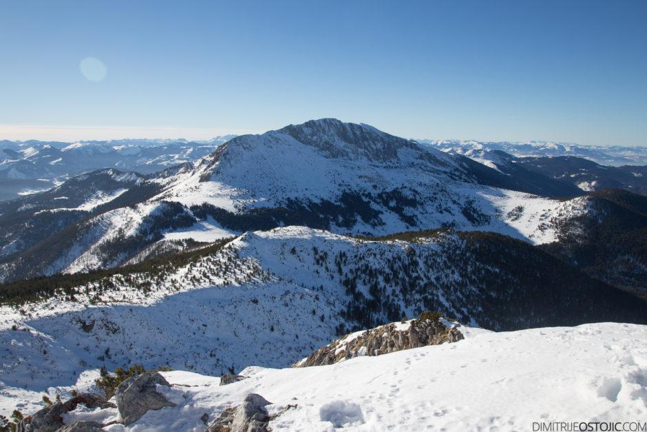 Greben Hajle, pogled sa Ahmice (2272m)