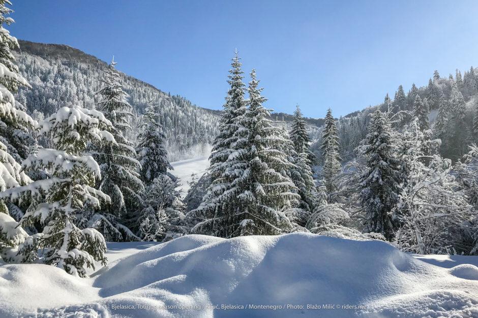 Čarobni prizoru na putu do skijališta