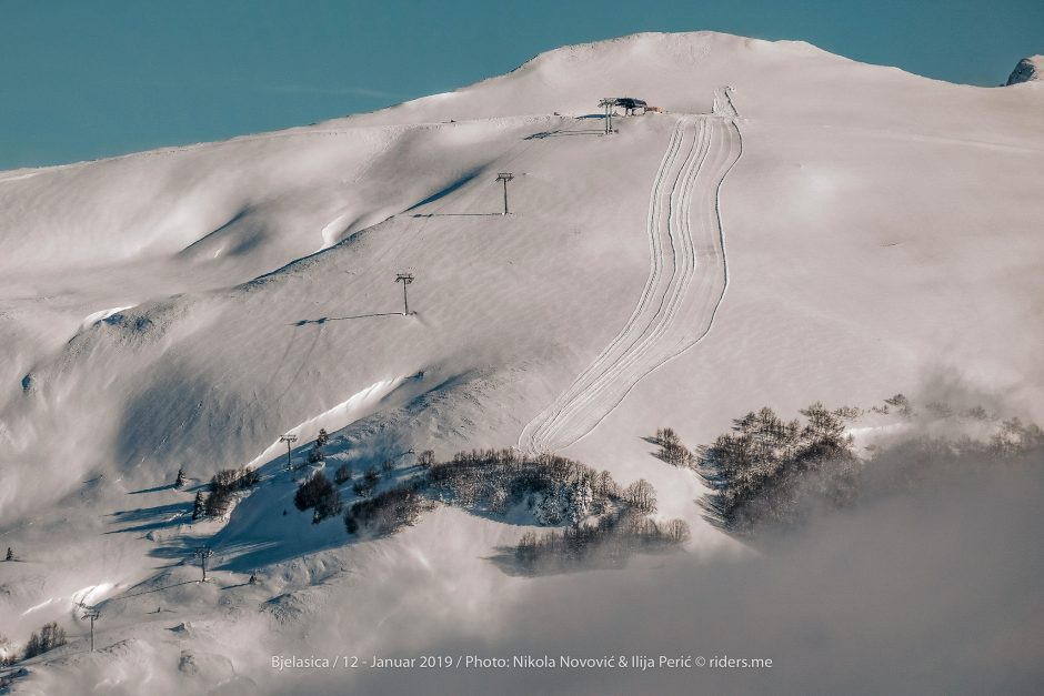 Pogled na troglavu i novo skijalište Kolašin1600